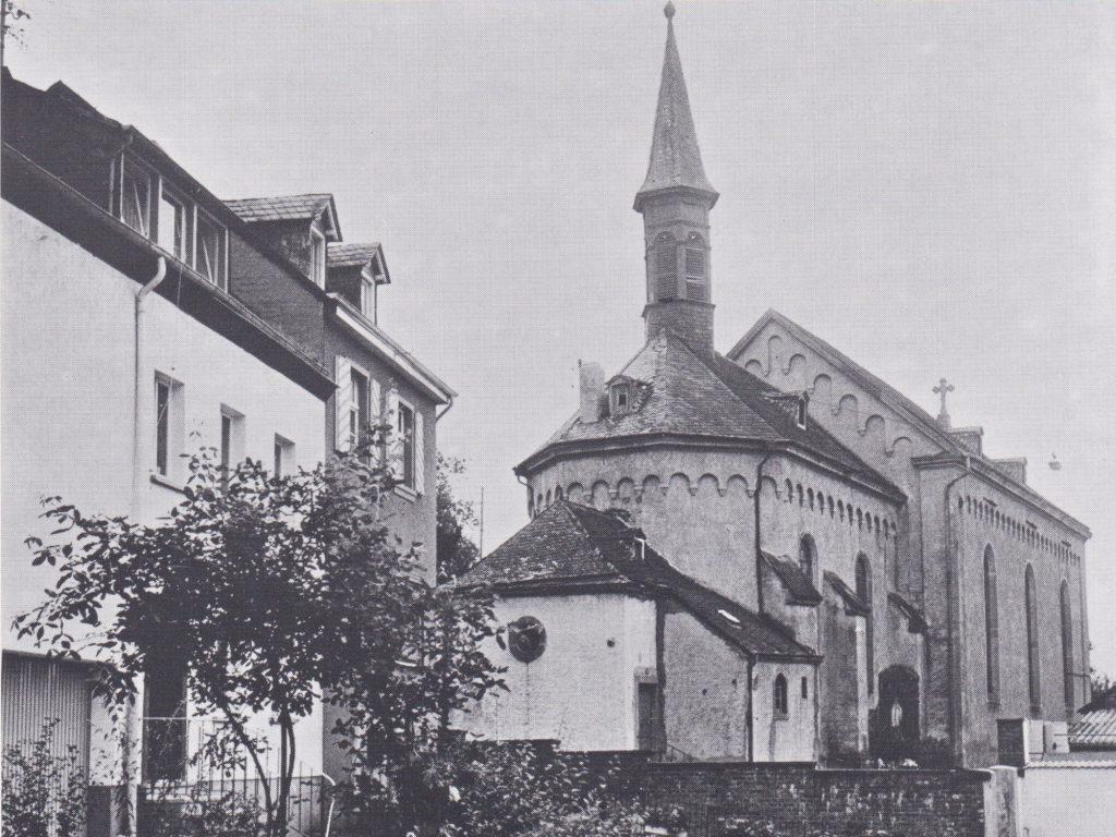 Bau der alten Pfarrkirche St. Martin